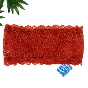 Free People Seamless Lace Bandeau Strapless Red